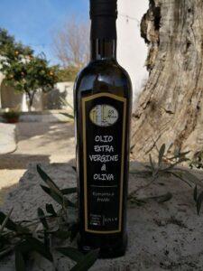 olio extravergine di oliva in bottiglia da 0,75 ml